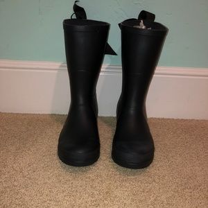 Shoes - Lemon Collections- Low Rise Rain Boots with Bow